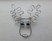 MOOSE BROOCH wire wrapped