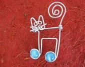 JAZZ CAT BROOCH wirework