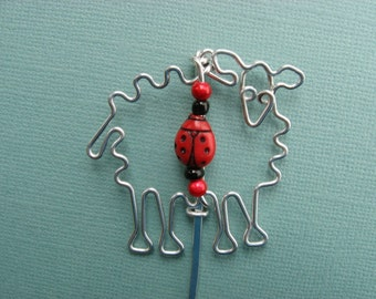 SHEEP BOOKMARK wirework
