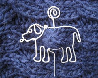 DOG SHAWL PIN