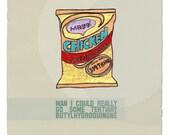 art prints \/\/ 'cravings' 5 x 5 print