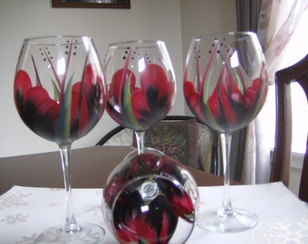 Wine glass/goblet Black/Red Must See