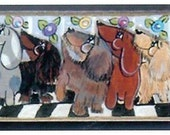 It is SNACK time for a dozen plus Dachshunds original wiener art magnet