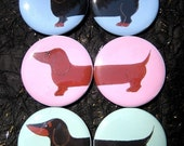 Large Dachshund 2 piece Magnet sets 6 in all You can choose the colors