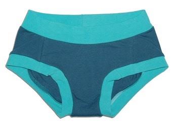 Latex-Free Women's Organic Cotton Dundies Underwear (XS through XL) - Eco-Friendly - Handmade - No Wedgie Lingerie - Made in USA