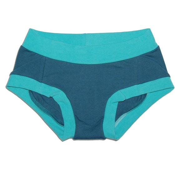 Latex-Free Women's Organic Cotton Dundies Underwear (XS through XL) - Eco-Friendly - Handmade - No Wedgie Lingerie - Made in USA
