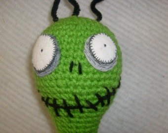 Pattern- crocheted Toxic Boy inspired doll  PATTERN ONLY