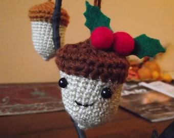 Pattern- Crocheted Acorn Ornament  PATTERN ONLY