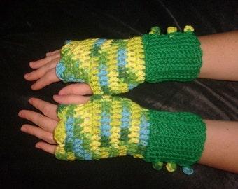 PATTERN crocheted handwarmers    PATTERN ONLY