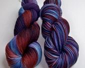 Hand Painted 2-Ply Superwash Merino and Nylon Sock/Fingering -- NCIS ZIVA