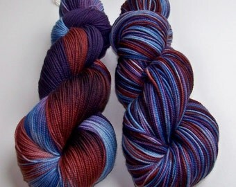 Hand Painted 2-Ply Superwash Merino and Nylon Sock/Fingering -- NCIS ZIVA
