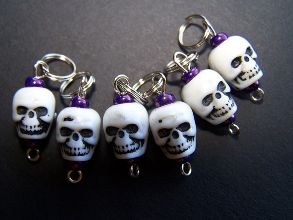 Hand Made Stitch Markers -- The Gang Is All Here