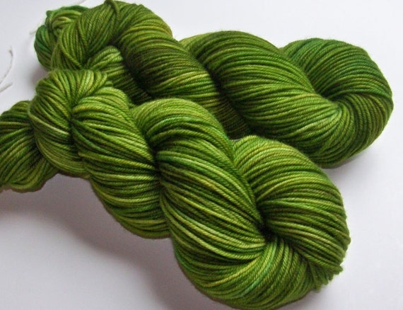 MASSIVE Yarn Sale 30 Percent Off -- Hand Painted Lux Merino Superwash DK - The Lettuce Lesson
