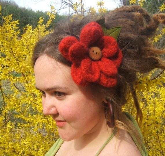 Poppy Large Flower Hair Piece