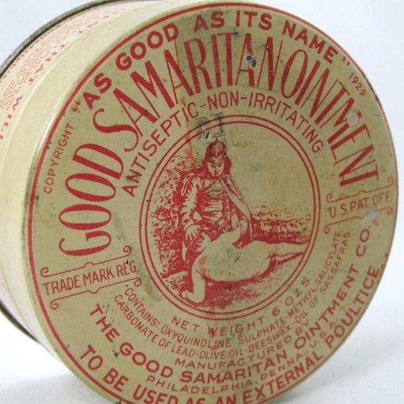 Good Samaritan Ointment Vintage Tin