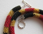 Real Coral Snake Bead Crochet Necklace- RESERVED FOR SHARON (UT88KEYS)