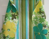Child's Play Cape in Green and Blue Vintage Fabric