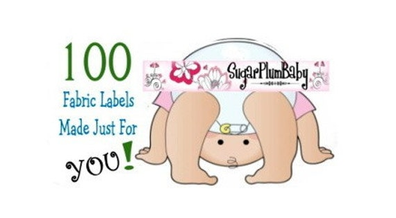 Custom FABRIC Labels - Bulk Lot of 100