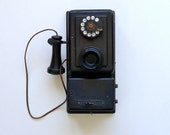Antique Black Wall Telephone