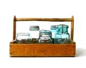 Vintage Wood Berry Tote Box