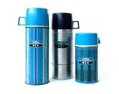 Thermos Collection Aqua Black and Stainless