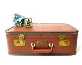 J C Higgins Overnight Suitcase in Burnt Sienna