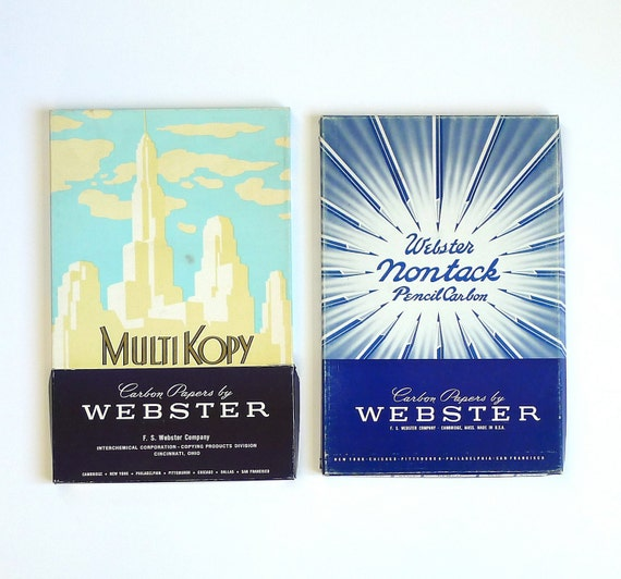 Mid Century Carbon Papers by Webster