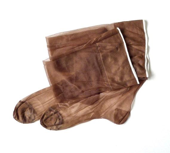 Schiaparelli Seamless Stockings Size 11