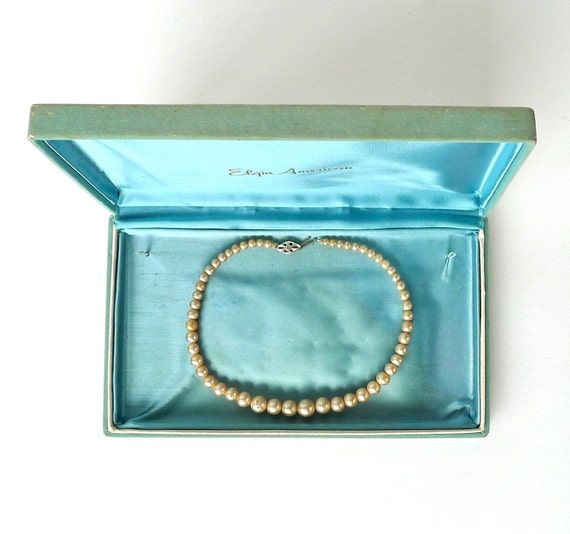 Little Girl's Faux Pearl Necklace 11-1/2""