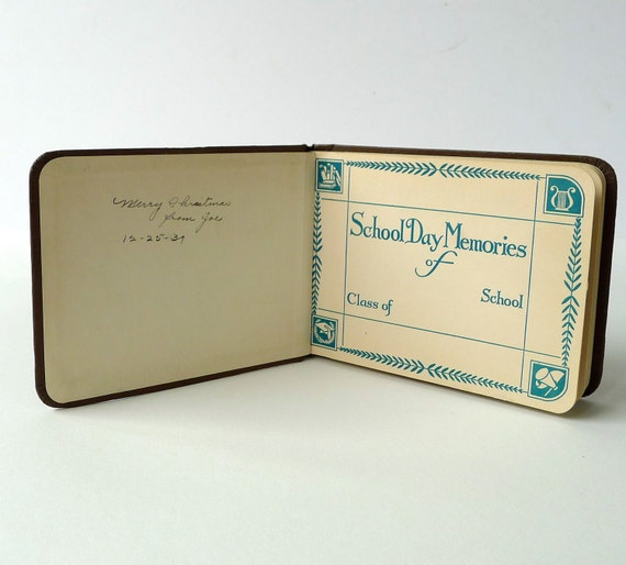 1930s Autograph Book Unused