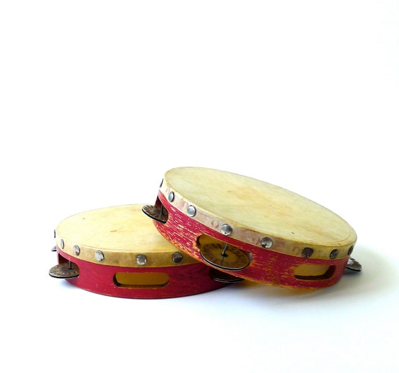 Pair of Vintage Ludwig Children's Tambourines