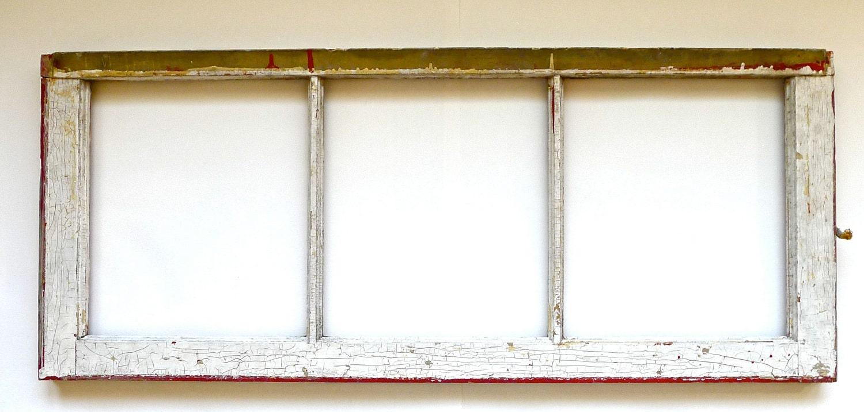 Vintage Three Pane Window Frame by marybethhale on Etsy