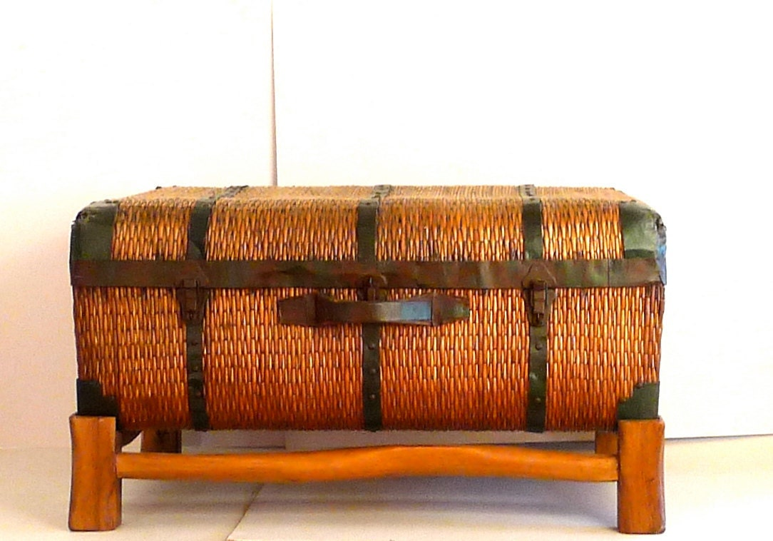 Vintage Wicker Suitcase | Luggage And Suitcases