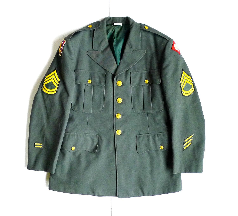 Vietnam Era US Army Uniform Jacket with Patches - photo#22