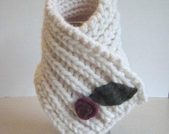 Knitting Pattern Fisherman's Rib Neck Warmer