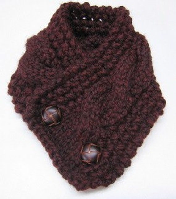 Knitting Pattern Cabled Neck Warmer by HomeMadeOriginals ...