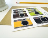Set of 12 Camera Stickers
