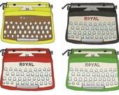 Set of 12 Typewriter Stickers