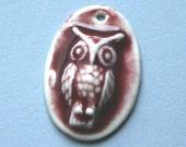 Baby Owl Jewelry Pieces - Red Pendant