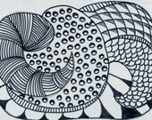 Zentangle Original ACEO \/ ATC  ACETSY TEAM