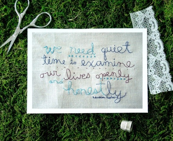 We need quiet time 5x7 print