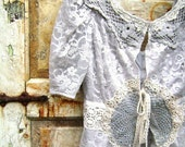 XOX Valentines Sale XOX Grey Gardens...vintage and antique lace ruffle jacket from from down de bayou
