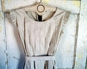 Rustic Ruffle Dress or Pinafore in Linen Country Fried Bayou Boho Style fits all s m l xl plus