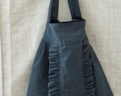 houndstooth wool  ruffle purse charcoal and black ruffle tote from down de bayou