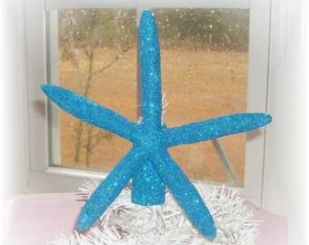 Handmade Starfish Christmas Tree Topper - Shabby Beach Chic Decor