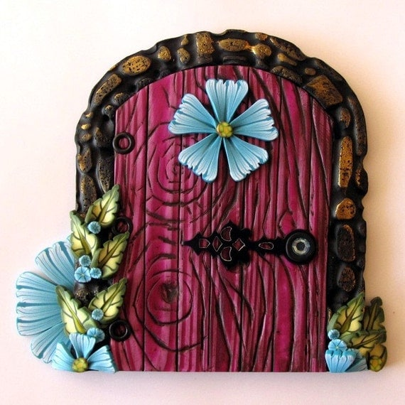 Magical  Fairy Door / Portal in Fuschia