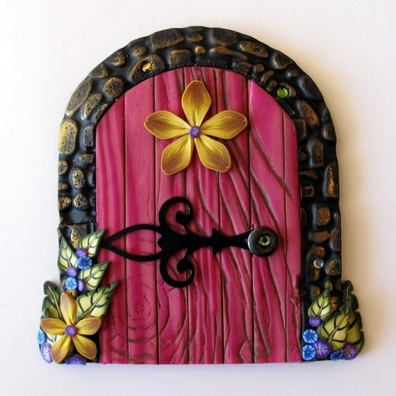 Magical fairy door portal in hot pink for Pink fairy door