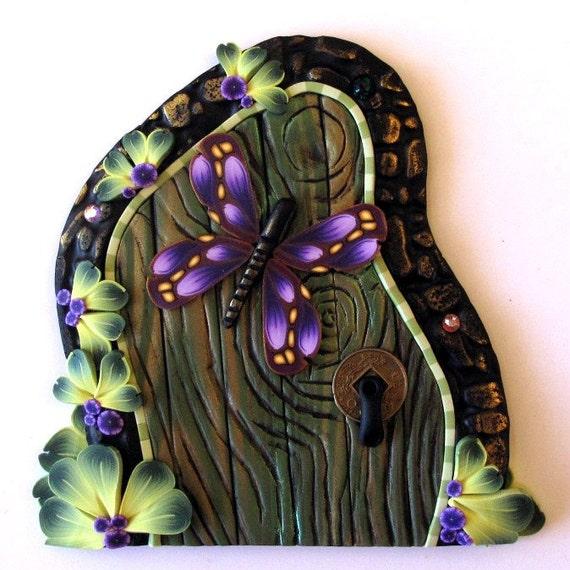 Purple butterfly fairy door for Purple fairy door