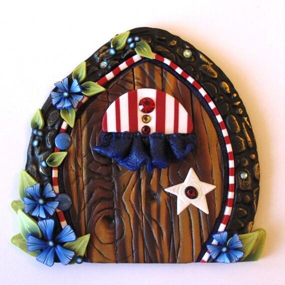 Stars and Stripes Fairy Door