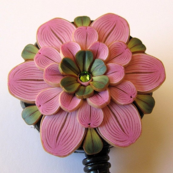 ID Badge Reel in Antique Pink